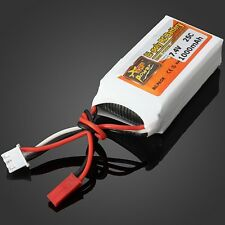 Battery 7.4V 1000mAh 2S 25C Lipo Battery JST Plug Rc Car Rc Helicopter Universal