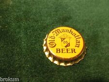 UNUSED NEW OLD STOCK OLD MANHATTAN BEER CHICAGO IL CORK LINED BEER CAP (AISLE B)