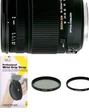 Sigma 18-250mm f3.5-6.3 DC MACRO OS HSM for Pentax -UV,CPL,Filters And Strap