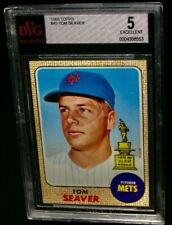 BVG 5 EX 1968 Topps All-Star Rookie TOM SEAVER Baseball Card #45 New York Mets