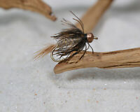 1 Doz BH Hares Ear Nymph/Wet Fly - Soft Hackle - Fishing Flies - Hook size #12