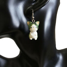 Lovely Cute Sweet Plastic Funny Cat Charm Dangle Chandelier Hookie Hook Earrings