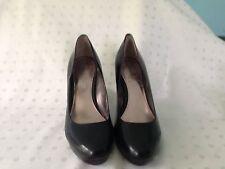 Women's Alfani Black Leather Platform Heels, Size 10