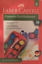 Faber Castell Connector Deckfarbkasten 12 Deckfarben Tuschkasten Deckweißtube