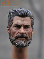 1/6 Wolverine Logan Head Sculpt For Hugh Jackman X-Men Battle Version IN STOCK