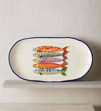 ANTHROPOLOGIE Sardina Small Serving Platter Sushi Fish Platter New Mediterranean
