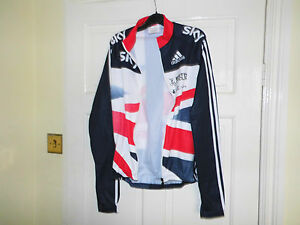 Adidas NEW SKY BLUE TOP team GB LS cyling bike jersey rider issue shirt BNIB