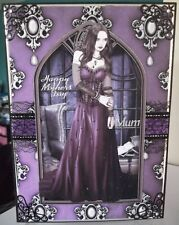 HANDMADE GOTHIC MOTHER'S MOTHERS DAY CARD BELLA GOTH TWILIGHT LADY IN PURPLE