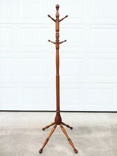 New listing Antique Victorian Oak Coat Tree Hat Rack Stand Arts & Crafts Turned Wood Mission