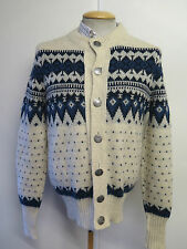 Traditional Vintage Icelandic Nordic Patterned Cardigan Size S UK 8/10