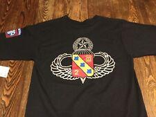 Vintage Emblem Tee T Shirt M Medium Military new old stock surplus Army Airborne