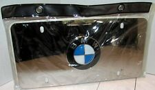 BMW Polished Stainless Steel Marque License Plate Logo OEM 82121470314 NEW Kit