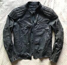 Ralph Lauren⚡️BLACK LABEL [$3,450] Distressed leather cafe racer moto jacket XL