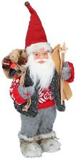 Lovely Traditional 30cm Santa Claus Father Christmas Figure Xmas Decoration