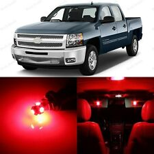 12 x Ultra Red Interior LED Lights For 2007-2013 Chevrolet Chevy Silverado +TOOL