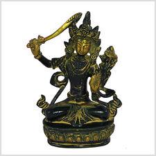 Manjushri Tara Buddha 15cm Messing Tibet Monju Weiße Tara Grüne Tara Nepal Antik