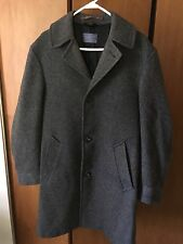 Pendleton Vintage 100% Wool Car Coat Overcoat Gray Mens Size 40 Made in USA