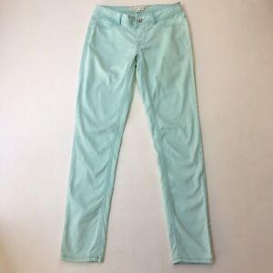 Free Fusion Pull-On Stretch Low Rise Skinny Jean Pants, Coloured Teal Blue Sz S
