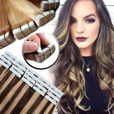 Tape In on Seamless Skin Weft Real 100% Remy Human Hair Extensions Highlight USF