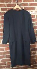 Vintage 80's Moods by Krizia dress 6 black shoulder pads sheath