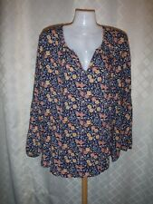Long Sleeve Blouse size 2XL Old Navy Multi Color 100% rayon viscose