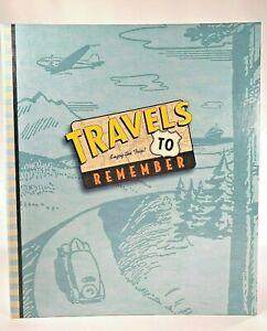 Hallmark Travels to Remember Journal Album Designed Pages Photo Pockets