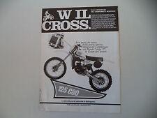 advertising Pubblicità 1980 MOTO TGM 125 C CROSS '80