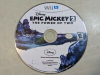 Disney Epic Mickey 2 The Power of Two (Nintendo Wii U, 2012) Disc Only