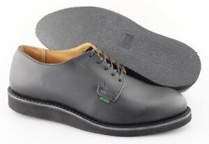 Men's RED WING '101 Postman' Black Leather Plain Toe Oxfords Size US 8.5 - D