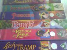 7 Walt Disney Classics VHS(video) LADY,JAFAR<BAMBI,PINNOCHIO,POCAHONTAS,ALADDIN
