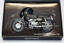 KAWASAKI H1 MACK III 1969 US ANTHRAITE/BLACK MINICHAMPS 1/12 NEUF EN BOITE