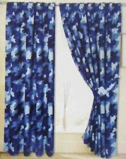 """Blue Army Camouflage Camo soldier Boys/childs/kids/girls Curtains   66"""" x 54"""""""