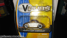 1/64 JADA TOYS 1949 VW VOLKSWAGEN HEBMULLER CABRIOLET BETTLE WAVE 2 COLLECTION