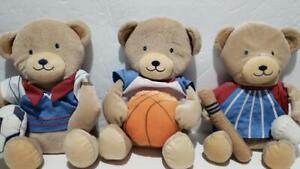 Tiddliwinks Li'l Sport Wall Hangings Plush Bears Boy Baseball Basketball Soccer