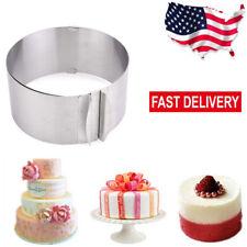 """6""""-12"""" Adjustable Round Stainless Steel Cake Ring Bakeware Tools Pan Mold Baking"""