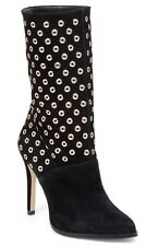 BCBGeneration Black Suede Mid-Calf Boot Stud Accent Size 8.5 New In Box NIB