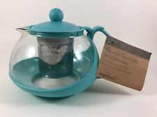 Glass Teapot with Infuser Turquoise World Market New with Tag