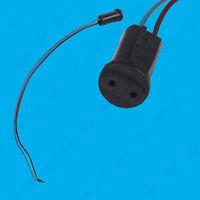 G4 Base Black Lamp Holder Socket & Cable, Halogen, LED Bulb Down Light Fitting