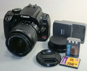 Canon Rebel XTi DSLR Camera with EF-S 18-55mm IS II Lens - Black *Fine/tested*