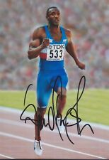 LINFORD CHRISTIE 1 Olympia 13x18 signiert IN PERSON Autogramm signed RAR