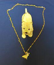 Kingspoint Designs Enamel & Crystal Westie Dog Trinket Box w/ matching Necklace