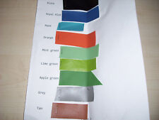 Faux leather and suede fabric samples, various colors, please select from pics.