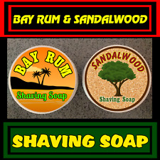 Bay Rum & Sandalwood Mix Pack Shaving Soap 2 Pieces Set For Men - 100% Handmade