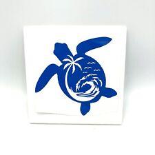 Sea World Salty Turtle Salt Beach Wave Life Vinyl Decal Sticker Car Window