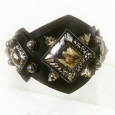 MOUTTON COLLET Bracelet/cuff  Leather With Unique Stones And Studs Retail $405.