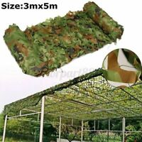 5x3m Shooting Hide Army Camouflage Net Hunting Camo Netting Woodland Shelter