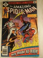 AMAZING SPIDER-MAN #184, With White Dragon And Red Death! (Fine- / Fine)