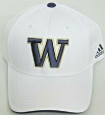 f9df2d1d614e8 Washington Huskies White Structured Adjustable Hat by adidas