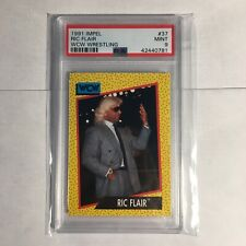 Ric Flair Impel #37 PSA 9 WWE WCW Wrestling Vintage Cheetah Card