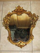 VTG/Antique OLD Musical Angel/Cherub ITALY wall Mirror ~ RARE